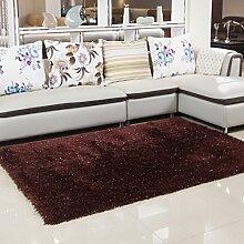 Innenteppich Anti-Rutsch-Wohnzimmer Weiche Teppiche Boden Matte Shaggy Bereich Teppich, Dichter Pile Teppich Decke ( Farbe : 3# , größe : 140X200CM )