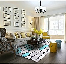 Innenteppich Dichte Pile Teppich, Wohnzimmer Schlafzimmer Teppich, Regionale Geometrische Form Teppich Decke ( Farbe : A , größe : 140 × 200CM )