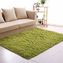 Innenteppich Dicker Wohnzimmer Teppich, Einfache Moderne Schlafzimmer Bedside Matten - Waschbar Decke ( Farbe : Grün , größe : 200*200cm )