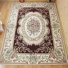 Innenteppich Europäische Rechteckige Teppich, Wohnzimmer Moderne Couchtischset Esszimmer Nachtdecke Decke ( Farbe : D , größe : 160*230cm )