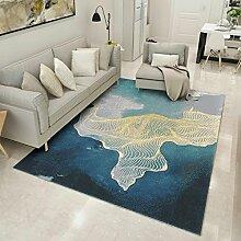 Innenteppich Europäischer Teppich Wohnzimmer Teppich Tee Tischteppich Schlafzimmer Teppich Moderner minimalistischer Teppich Decke ( Farbe : C , größe : 140*200CM )