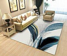Innenteppich Europäischer Teppich Wohnzimmer Teppich Tee Tischteppich Schlafzimmer Teppich Moderner minimalistischer Teppich Decke ( Farbe : B , größe : 160*230CM )