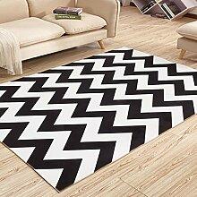 Innenteppich Geometrischer Teppich, Dicker Teppich Schlafzimmer Bedside Mat Rectangle Home Decke ( Farbe : A , größe : 120*160cm )