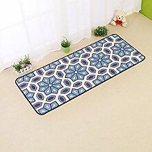 Innenteppich Haus und Küche Teppich Moderner Teppich Rutschfeste Küchenmatten Decke ( Farbe : B , größe : 50*150cm )