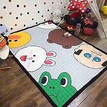 Innenteppich Kinder-Karikatur-Matten, Rechteck Dicker Schlafzimmer Rutschfester Teppich Decke ( Farbe : D , größe : 150*200cm )