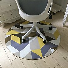 Innenteppich Moderne Einfache Geometrie Runde Bereich Teppich, Schlafzimmer Teppich Nachttoßen Gemütlich Wohnzimmer Teppich Rutschfeste Kinder spielen Fußboden Matte Decke ( Farbe : B )