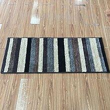 Innenteppich Moderne geometrische gestreifte Teppiche verschlüsselt dicken Teppich Schlafzimmer Wohnzimmer Boden Teppich Decke ( größe : 50cm×180cm )
