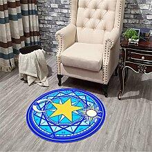 Innenteppich Moderne Printing Runde Teppich Wohnzimmer Schlafzimmer Lernen Soft Teppich Boden Matten Home Decoration Decke ( Farbe : D , größe : 160*160cm )