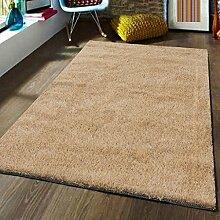 Innenteppich Monochrome Teppich 6 Farbe Living Teppich Zimmer Modern Schlafzimmer Nachttischdecke Rechteckig Decke ( Farbe : Beige , größe : 140cm×200cm )