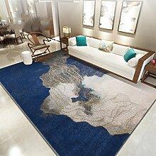 Innenteppich Nordic Wohnzimmer Teppich mit Wasserzeichen Teppich Schlafzimmer voller Teppich Einfache moderne Couchtisch Bettdecke (160 * 230cm) blau Decke ( Farbe : C , größe : 160*230cm )