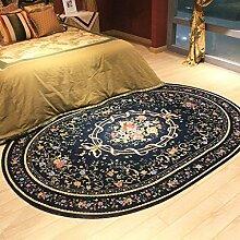 Innenteppich Oval Teppichbereich Teppich Wohnzimmer Schlafzimmer Garderobe Tee Tischdecke Großer Teppich Decke (Farbe : A, größe : 200*290cm)