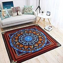 Innenteppich Platz Teppich, Europäische Und Amerikanische Mode Ethnische Wohnzimmer Couchtisch Teppich Schlafzimmer Sofa Schreibtisch Computer Stuhl Tür Teppich Decke ( größe : 180*180cm )