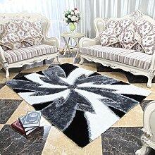 Innenteppich Rechteckige Teppich, schwarz und weiß kombiniert mit dem Muster Wohnzimmer Sofa Teppiche Couchtisch Matte moderne minimalistische Schlafzimmer Teppich Decke ( größe : 120*170cm )