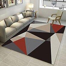 Innenteppich Rechteckiger Teppich Moderner und einfacher Schlafzimmer-Wohnzimmerteppich Kinderkriechmatte Nordeuropa Decke ( Farbe : #2 , größe : 160*240CM )