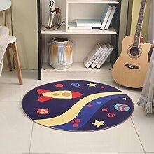 Innenteppich Runde Bereich Teppich, Cartoon Kinder Decke Wohnzimmer Schlafzimmer Nachttisch Kaffee Tisch Zimmer Computer Stuhl Matten Decke ( Farbe : D , größe : Round-120cm )