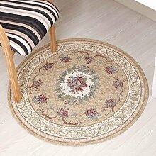Innenteppich Runde Bereich Teppich, orientalischen Vintage Teppich Hall Schlafzimmer Couchtisch Wohnzimmer rutschfeste Matte Home Teppich Decke ( Farbe : A , größe : ROUND-120CM )