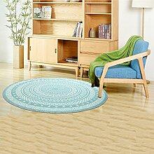 Innenteppich Runde Matten Wohnzimmer Runde Teppich Schlafzimmer Modern Minimalist Decke ( Farbe : A , größe : ROUND-120cm )