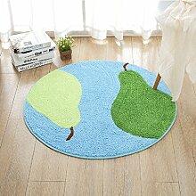 Innenteppich Runde teppiche, kinderzimmer nachttischtennismatten studie computer stuhl korb teppich Decke ( Farbe : B , größe : Round-160cm )