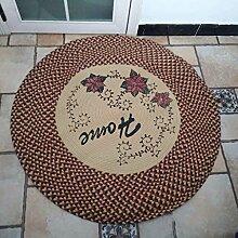 Innenteppich Runder Teppich, Handgewebte Teppich Baumwolle Runde Matten Ottomans Teppich Crawl Pad Decke ( größe : ROUND-80cm )