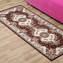 Innenteppich Schlafzimmer Nachttisch Teppich, rechteckige Kombination aus gewebten Matten rutschfeste Wasserabsorptionsmaschine waschbar Decke ( Farbe : D , größe : 75*180cm )