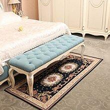 Innenteppich Schlafzimmer Nachttisch Teppich, rechteckige Kombination aus gewebten Matten rutschfeste Wasserabsorptionsmaschine waschbar Decke ( Farbe : A , größe : 75*180cm )