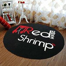 Innenteppich Stilvolle Runde Teppich Wohnzimmer Couchtisch Große Teppich Studie Club Teppich Decke ( Farbe : K , größe : 100cm )