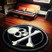 Innenteppich Stilvolle Runde Teppich Wohnzimmer Couchtisch Große Teppich Studie Club Teppich Decke ( Farbe : J , größe : 100cm )