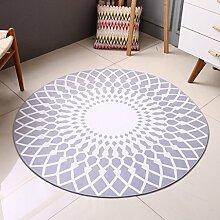 Innenteppich Teppich-kreativer runder Wohnzimmer-Teppich-Ausgangsart- und weiseteppich-Bettdecke-Teppich-Schlafzimmer-Wolldecke Decke ( Farbe : Grau , größe : 160*160cm )