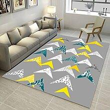 Innenteppich Teppich Teppich Rechteck Teppich Teppich Teppich Wohnzimmer Teppich Schlafzimmer Kopfteil Teppich Büro Geometrische Bars Decke ( Farbe : #1 , größe : 180*200CM )