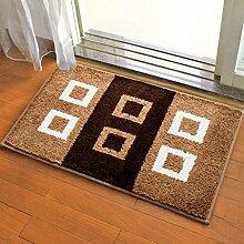 Innenteppich Teppich Türmatten Bad Teppich weiche superfine Faser Decke ( Farbe : C , größe : 50*80cm )