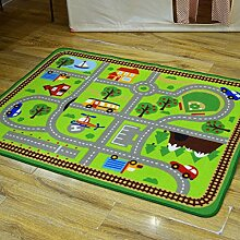 Innenteppich Urban Traffic Track Teppiche Kinder Schlafzimmer Schlafzimmer Teppich Baby Game Pad Auto Decke Decke ( Farbe : D , größe : 100*133cm )