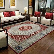 Innenteppich Weinlese-Wohnzimmer-Teppich, Kaffeetisch-Bett-Nachttuch-Maschinen-waschbarer Teppich Decke ( Farbe : A , größe : 160*230cm )