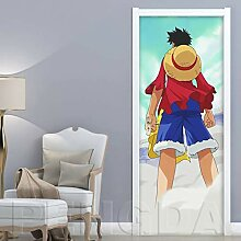 Innentüraufkleber Cartoon Junge 88x200cm Kunst