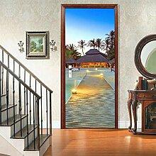 Innentüraufkleber Ocean Beach House Landschaft