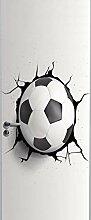 Innentüraufkleber Sport Fußball Kreativität