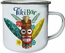 INNOGLEN Aloha Tiki Maske Bar Hawaii Retro, Zinn,