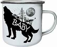 INNOGLEN Baby Wolf Wilde Natur Retro, Zinn,
