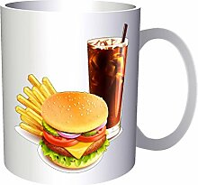 INNOGLEN Burger Pommes und Cola Neuheit lustig 33
