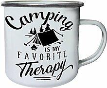 INNOGLEN Camping Ist Meine Therapie Retro, Zinn,