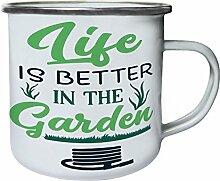 INNOGLEN Das Leben ist Besser im Garten Retro,