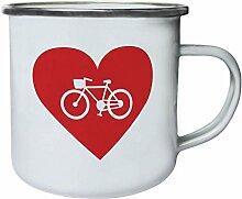INNOGLEN Fahrrad Liebe lustige Neuheit Retro,