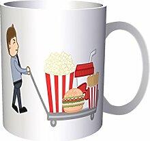 INNOGLEN Mann-Burger-Popcorn-Zahl