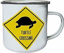 INNOGLEN Schildkröte Kreuzung Zeichen Retro,