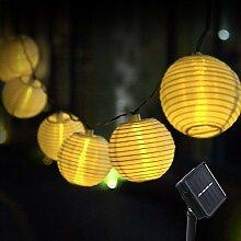 Solar Lichterkette Lampions 30-60 LED Warmweiß Bunt Lampions Garten Party Außen