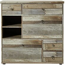 Innostyle Schuhschrank BONANZA für Garderobe 30 64 DD 10 Dielenmöbel in Driftwood MDF für Flur und Eingangsbereich