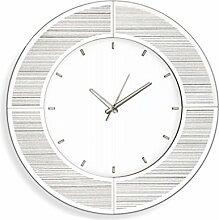 Innova Editions Glitzer Spiegel Uhr, Weiß
