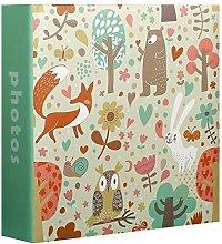 Innova - Fotoalbum, Kinder Tiere für 200 Fotos,