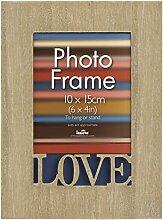 Innova PI06411 Love Bilderrahmen, Holz, 10 x 15