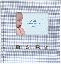 Innova Q9306338 Gingham Baby-Fotoalbum mit 100
