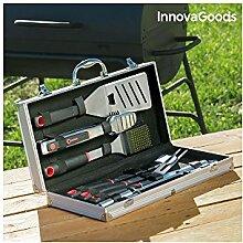 InnovaGoods-Koffer Grillbesteck, Edelstahl,